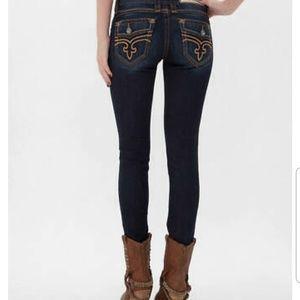 Rock Revival Womens Calli Skinny Stretch Jeans 26